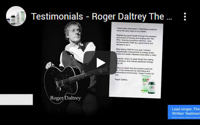 Roger Daltrey Speaks About TA-65