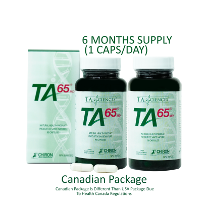 TA-65® 250 Units 90 Capsules - 6 Months Supply