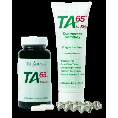 TA-65® 250 Units 90 Capsules + TA-65® For Skin 118 gr.